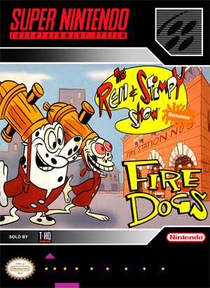 SNES - Ren & Stimpy Show: Fire Dogs, The (front)