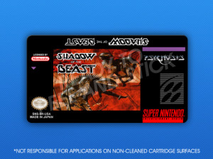 SNES - Shadow of the Beast Label