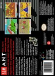 SNES - SimAnt (back)