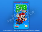 SNES - Super Mario Bros. 3: Christmas Edition Label