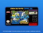 SNES - Smurfs: Travel the World Label
