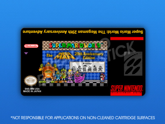 SNES - Super Mario World: The Megaman 29th Anniversary Adventure Label