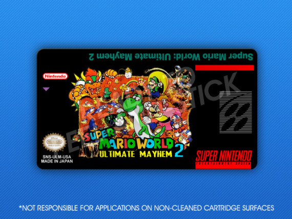 SNES - Super Mario World: Super Mario World: Ultimate Mayhem 2 Label