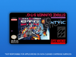 SNES - Strike Gunner S.T.G. Label