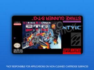 SNES - Strike Gunner S.T.G. Label