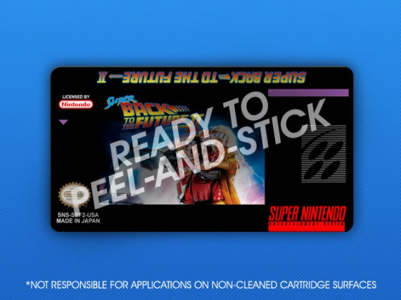 SNES - Super Back To The Future II Label