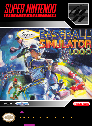SNES - Super Baseball Simulator 1000 (front)