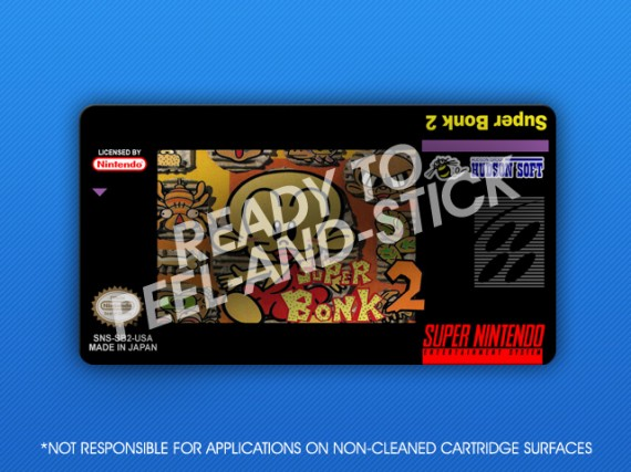 SNES - Super Bonk 2 Label