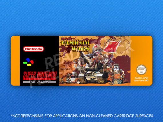 SNES - Super Famicom Wars Label (PAL)
