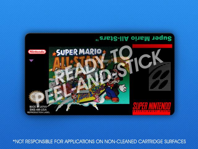 Snes Super Mario All Stars Label Retro Game Cases