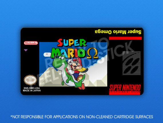 SNES - Super Mario Omega Label