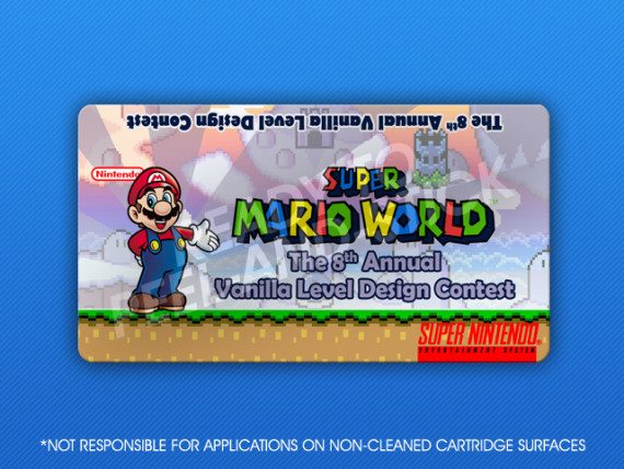 SNES - Super Mario World: The 8th Annual Vanilla Level Design Contest Label