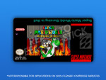 SNES - Super Mario World: Burning in Hell Label