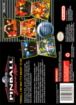 SNES - Super Pinball: Behind the Mask (back)