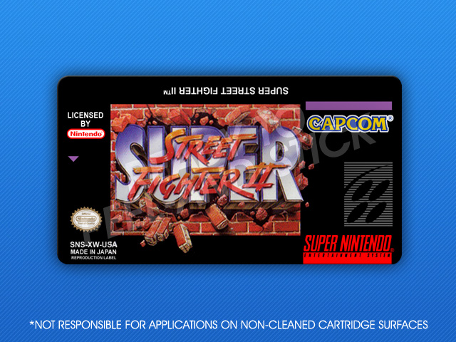 Snes Super Street Fighter Ii Label Retro Game Cases