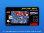 SNES - Super Turrican 2 Label