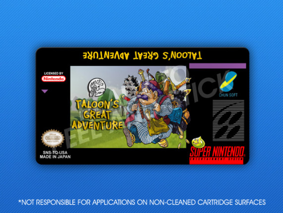 SNES - Taloon's Great Adventure Label