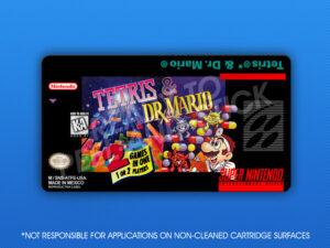 SNES - Tetris & Dr. Mario Label