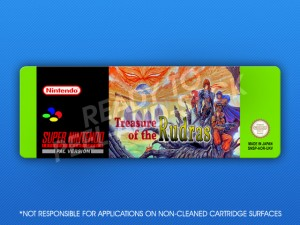 SNES - Treasure of the Rudras Label