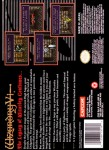 SNES - Wizardry V: Heart of the Maelstrom (back)