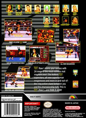 Snes Wwf Raw Custom Game Case Retro Game Cases