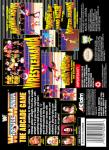 SNES - WWF WrestleMania: The Arcade Game (back)