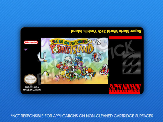 SNES - Super Mario World 2+2: Yoshi's Island Label