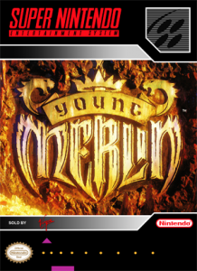 SNES - Young Merlin (front)