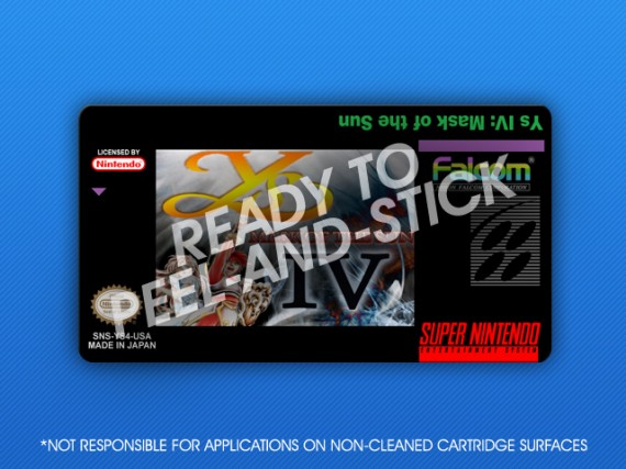 SNES - Ys IV: Mask of the Sun Label