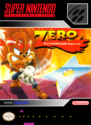 SNES – Zero: The Kamikaze Squirrel (front)