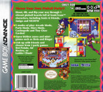 GBA - Sonic Pinball Party (back)