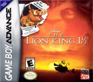 GBA - The Lion King 1 1/2 (front)
