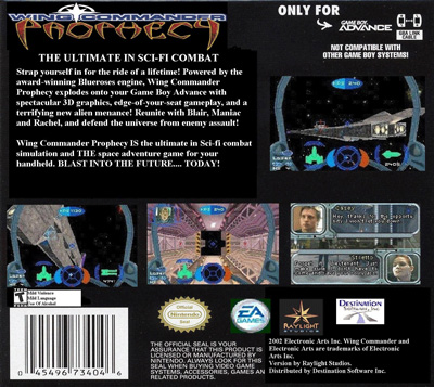 Gba wing commander prophecy back for Wing commander prophecy